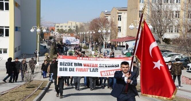 Sivas'ta 'Fırat Yılmaz Çakıroğlu' anma yürüyüşü