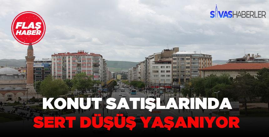 Sivas'ta konut satışlarında düşüş yaşanıyor
