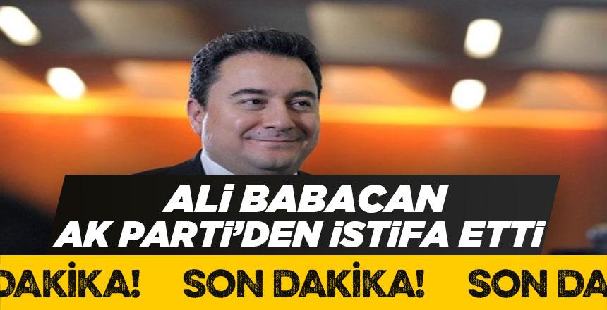 Ak Parti'nin kurucularından Ali Babacan İstifa Etti