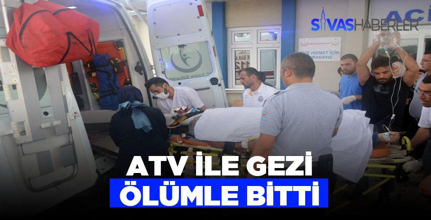 ATV kazasında 1 ölü 1 ağır yaralı