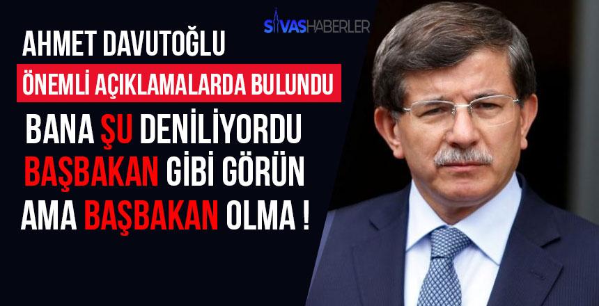 Ahmet Davutoğlu geçmişe dair önemli açıklamalar