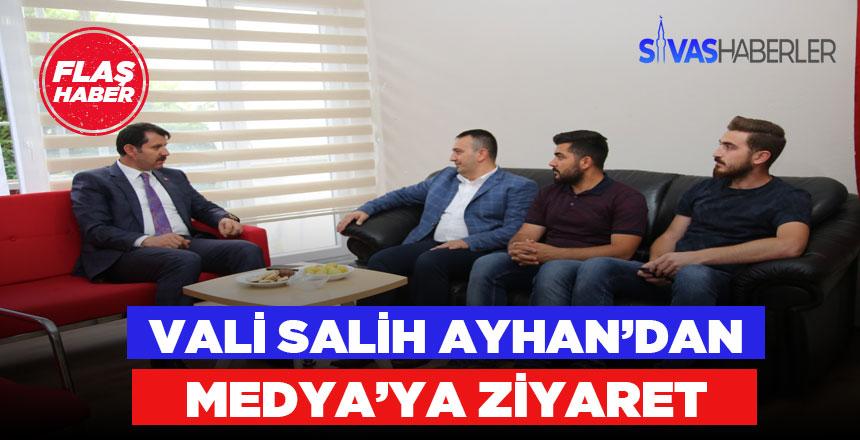 Vali Salih Ayhan'dan Medya Ziyareti
