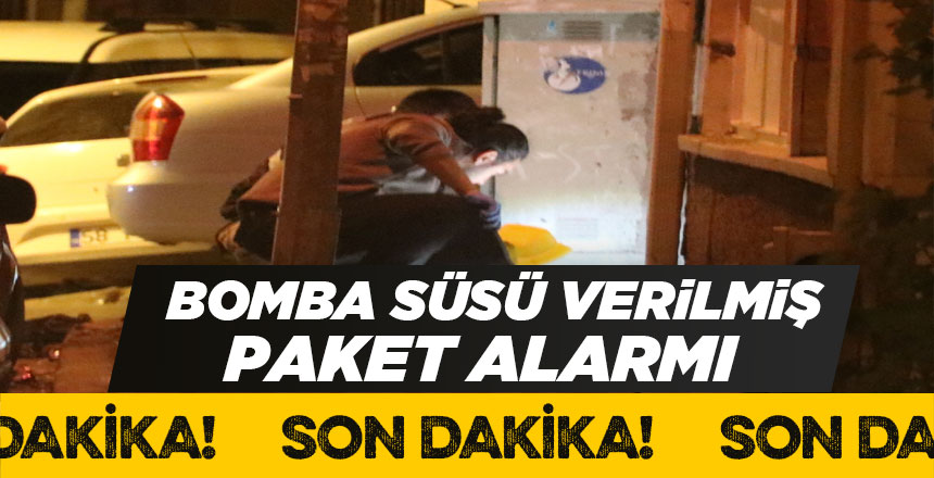 Sivas'ta bomba süsü verilmiş paket alarmı