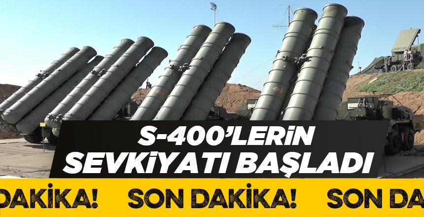 S-400'ler Türkiye'ye gelmeye başladı