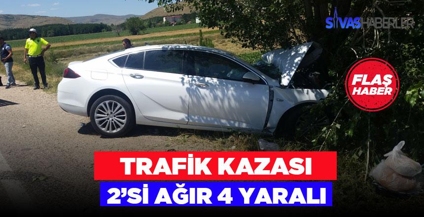 Tokat-Sivas karayolu üzerinde trafik kazası