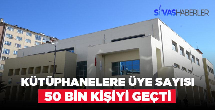Kütüphanelere Sivas'ta ilgi gün geçtikçe artıyor
