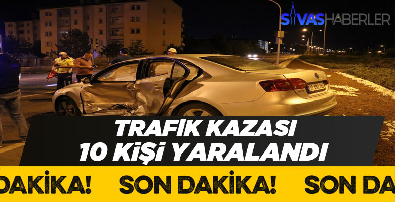 Sivas-Ankara karayolunda kaza 10 kişi yaralı