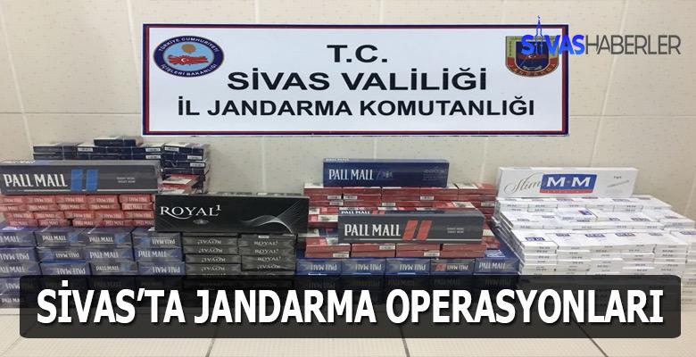Sivas'ta kaçakçılık ve uyuşturucu operasyonları
