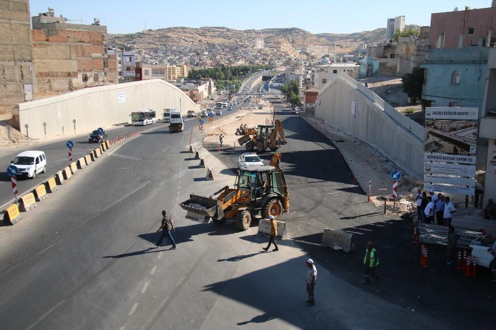 Karakoyun köprülü kavşağının asfalt çalışmaları tamamlandı