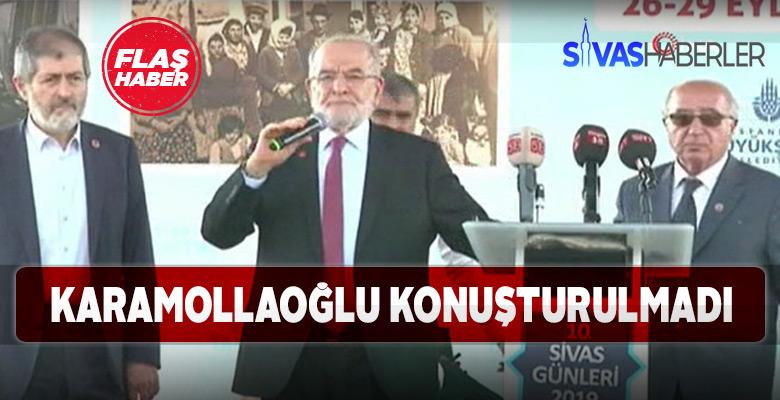 Sivas Tanıtım günlerinde Temel Karamollaoğlu Protestosu