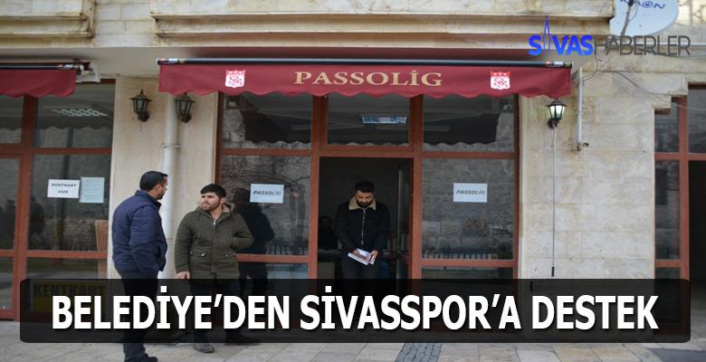 Sivas Belediyesi'nden Sivasspor'a destek geldi