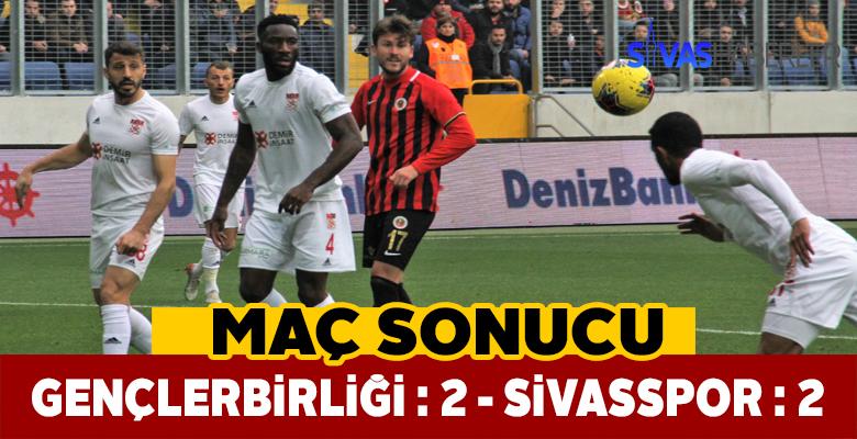 Sivasspor son anda berabere kaldı