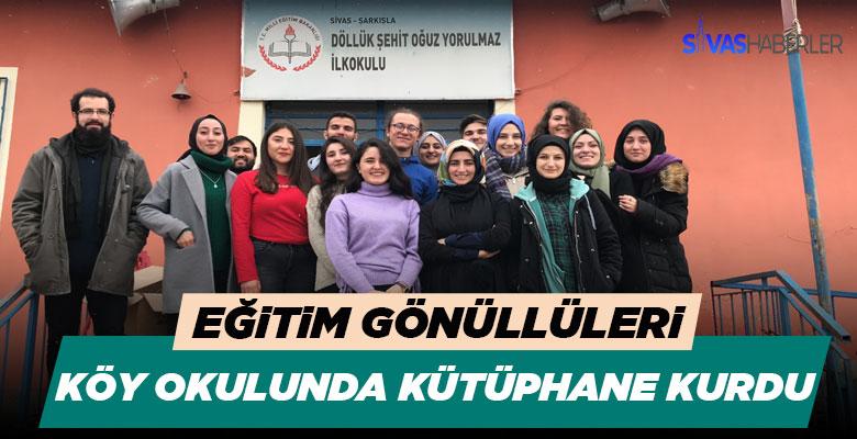 Sivas'ta 17 genç gönüllü kütüphane kurdu