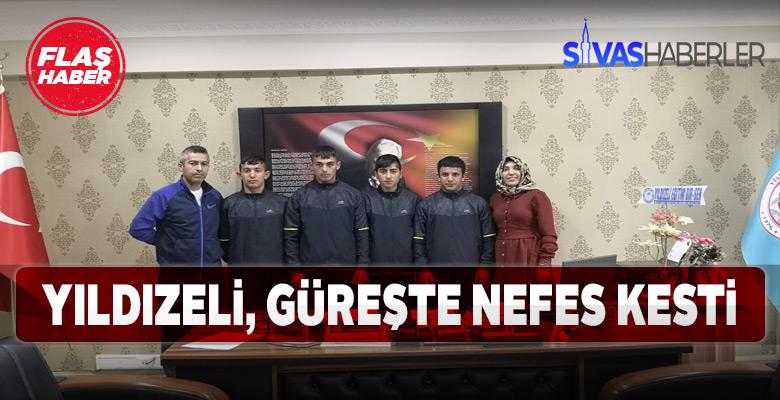 Yıldızeli öğrencileri güreşte Türkiye Şampiyonasına katılacak