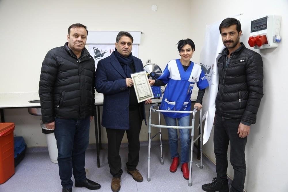 HAYTAP tarafından Hayvan oteline Sterilizasyon Cihazı hediye edildi