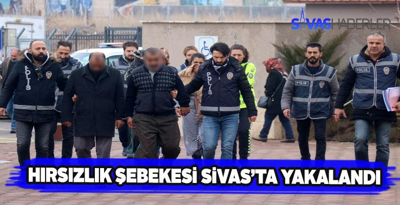 Sivas'ta evleri soyan 5 kadın hırsız yakalandı