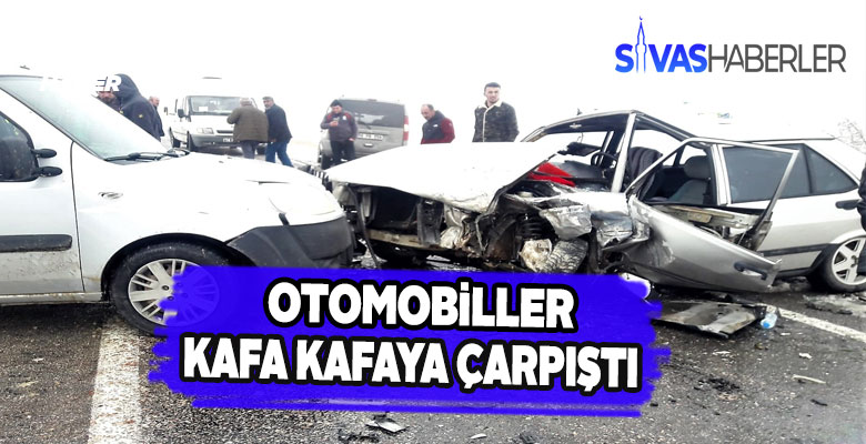 Gürün'de iki araç çarpıştı iki yaralı