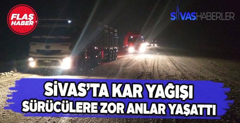Çamlıbel geçidinde Kar yağışı trafiği olumsuz etkiliyor