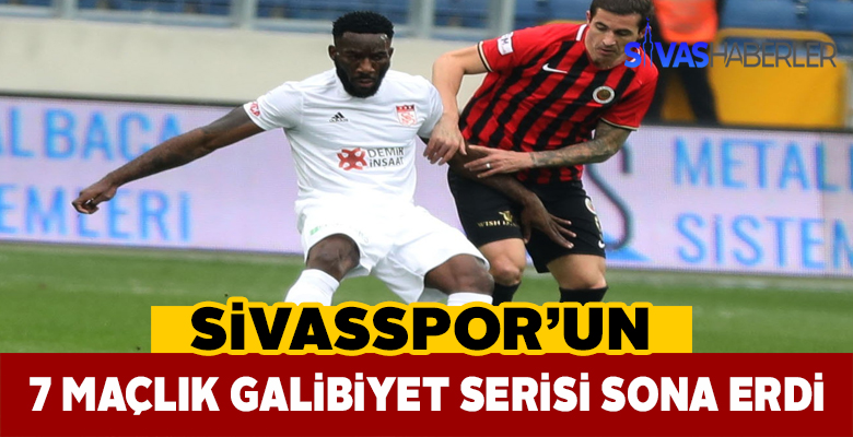 Sivasspor galibiyet serisini bozdu