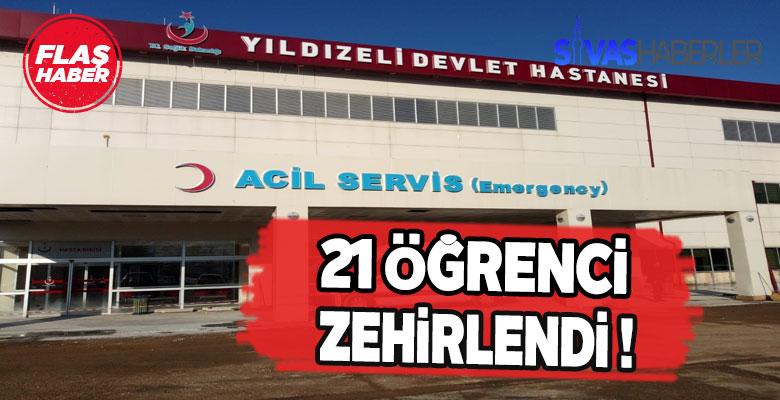 Sivas Yıldızeli'de 21 öğrenci hastaneye kaldırıldı