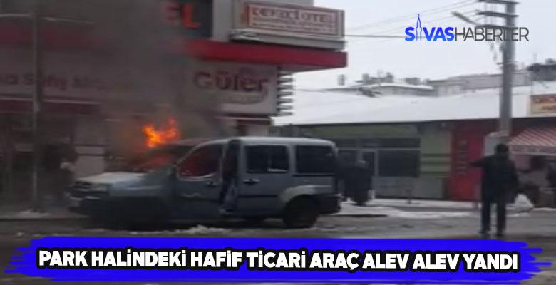 Aniden yanmaya başlayan aracı cesur vatandaş söndürdü