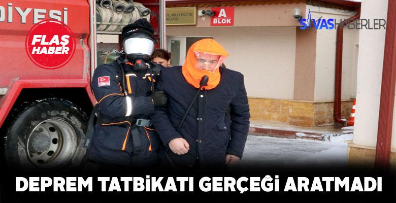 Sivas'ta deprem tatbikatı başarıyla icra edildi