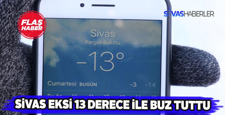 Sivas'ta soğuk hava hayatı durma noktasına getirdi