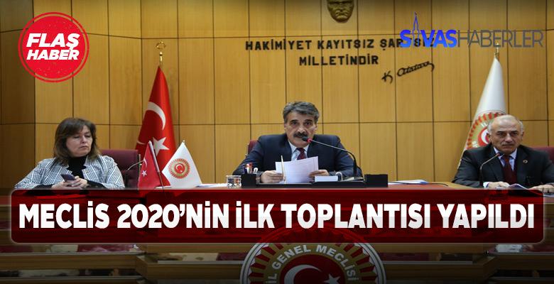 Sivas'ta Meclis yeni yılda ilk kez toplandı
