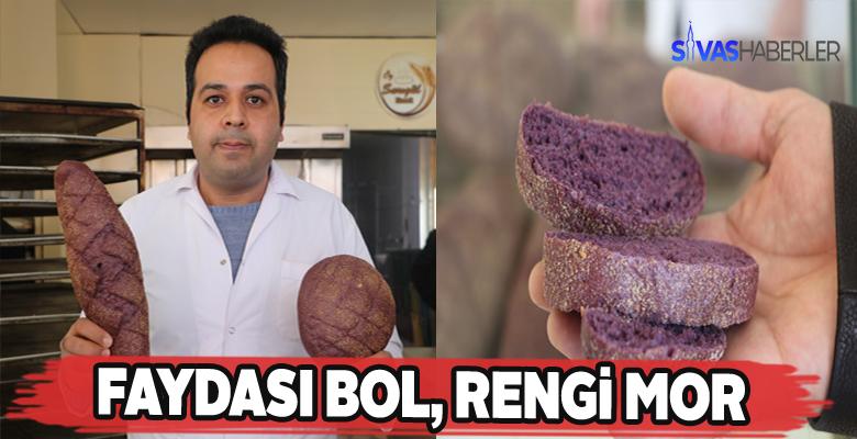 Mor ekmek artık Sivas'ta da üretiliyor