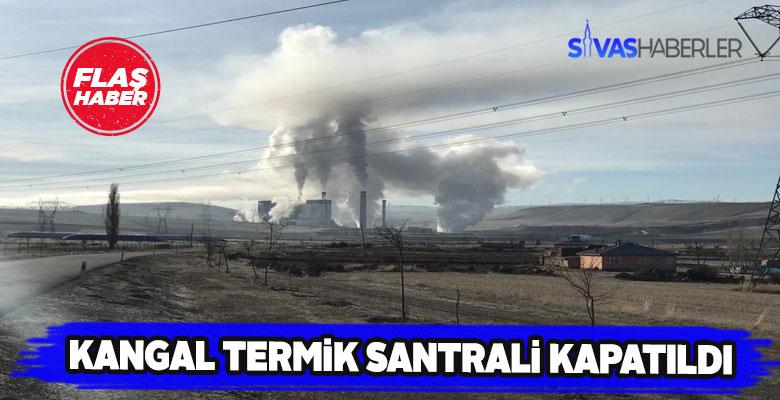 Kangal ilçesindeki termik santrale kilit vuruldu
