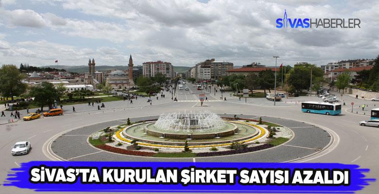 2019'da Sivas'ta kurulan şirket sayısında gerileme yaşandı