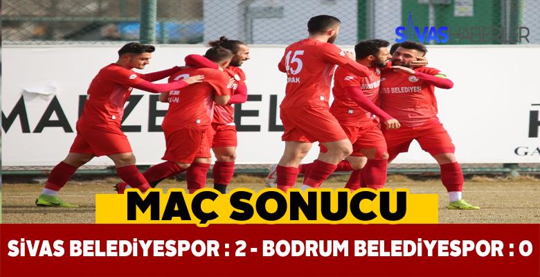 Sivas Belediyespor rakibini 2 golle geçti