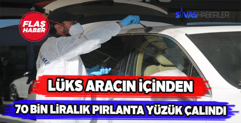 Sivas'ta lüks araç vurgunu