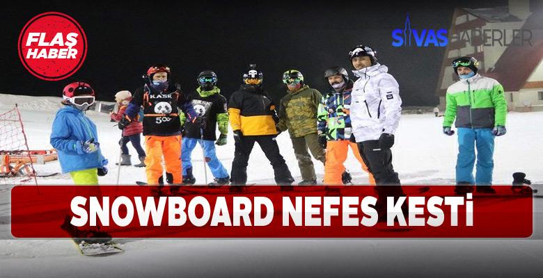Yıldız Dağı Kış Sporları Turizm Merkezinde snowboard heyecanı