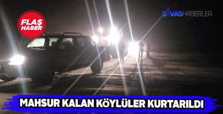 Gürün'deki tipiye yakalanan köylüler kurtarıldı