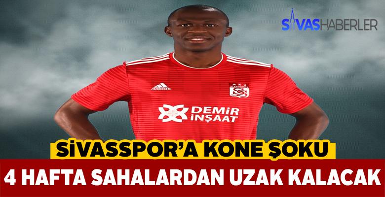 Sivasspor'un golcüsü 1 ay sahalardan uzak kalacak