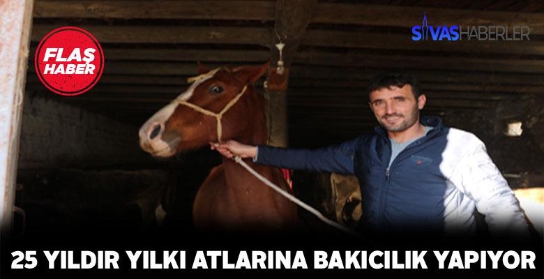 Sivaslı vatandaş yılkı atlarına kol kanat geriyor