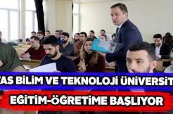 Sivas Bilim ve Teknoloji Üniversitesi açılıyor