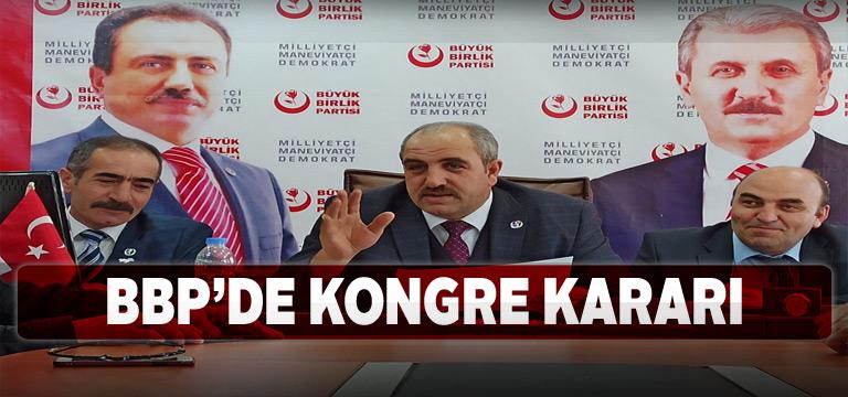 Sivas BBP Merkez İlçe Başkanlığı kongreye gidiyor