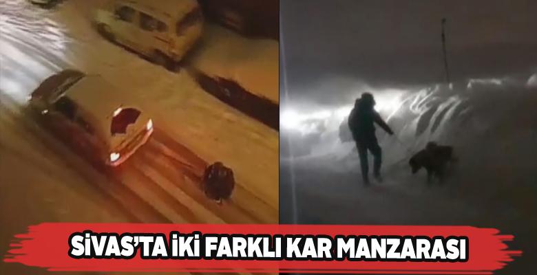 Sivas'ta kimi karın keyfini çıkarıyor, kimi cefasını çekiyor