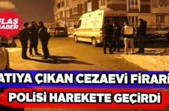 Sivas'ta polisler cezaevi firarisini çatıda sıkıştırdı