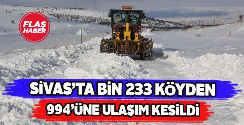 Sivas'ta köylerin çoğuna ulaşım sağlanamıyor