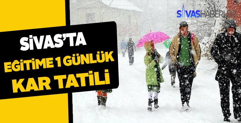 Sivas'ta haftanın son günü de okullar tatil edildi