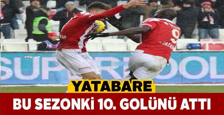 Sivasspor'un 34'lük golcüsü Yatabare 10 gole ulaştı