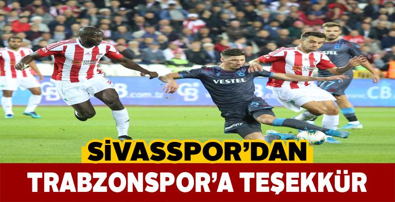 Trabzonspor'un jestine Sivasspor'dan teşekkür geldi