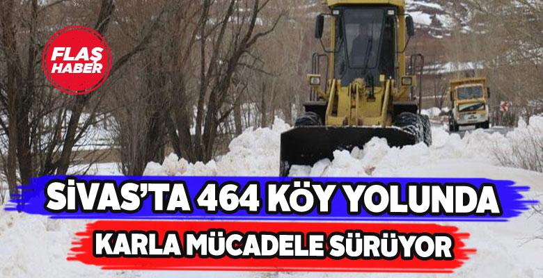 Sivas'ta kapalı köy yolları temizleniyor