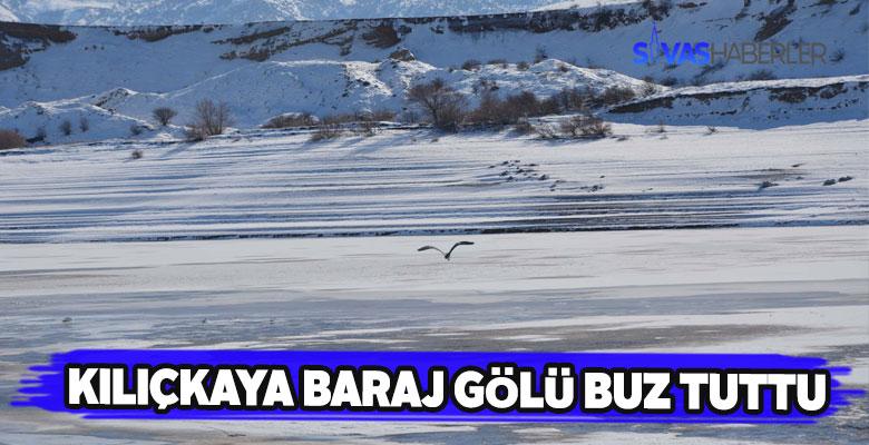 Soğuk havalar Kılıçkaya baraj gölünü de dondurdu