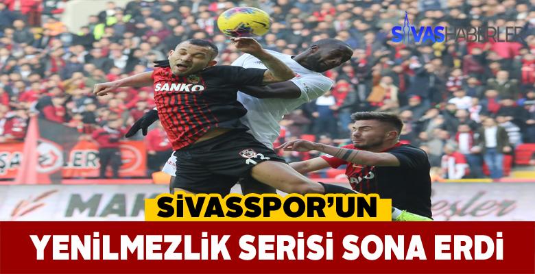 Sivasspor Süper Lig'de 11 maç sonra mağlup oldu