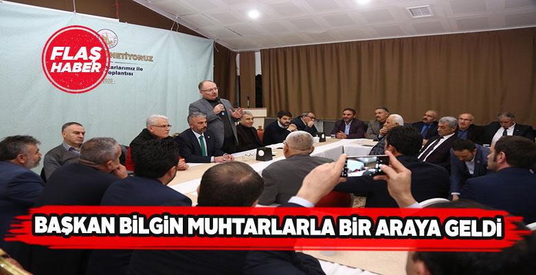 Sivas Belediye Başkanı muhtarlarla buluştu