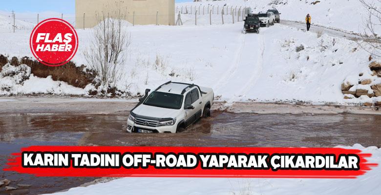 Off-road tutkunları Sivas'ta doyasıya eğlendi